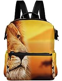 Preisvergleich für COOSUN Lion Portrait Savanna Schule Rucksack-Spielraum-Rucksack Multi