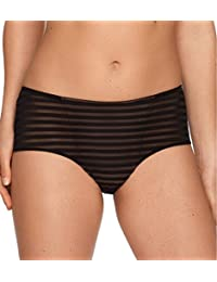 Shorty à rayures semi-transparent Only you noir