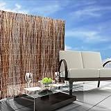 casa pura® Sichtschutz Weidenzaunmatten - Größe wählbar - 100x500cm -