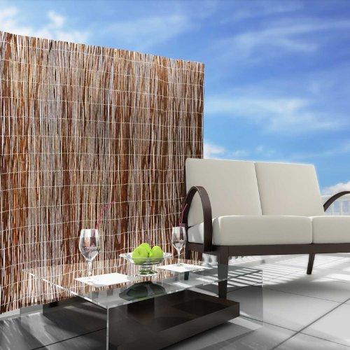casa pura® Sichtschutz Weidenzaunmatten - Größe wählbar - 150x500cm -