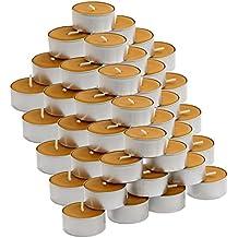 Bougies chauffe-plat à la cire d'abeille entièrement naturelle à l'odeur caractéristique de la cire d'abeille, 50er Set