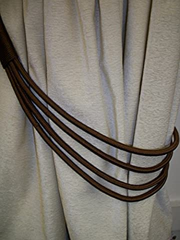 Chocolate Brown Cord Band Curtain Tie Back /Tieback