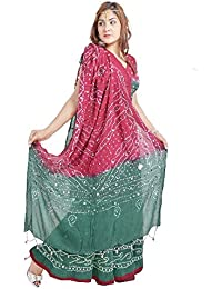 Pezzava Cotton Bandhej Lehenga Choli For Women's