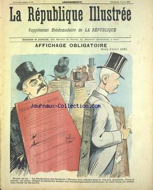 REPUBLIQUE ILLUSTREE (LA) [No 28] du 09/06/1901 - AFFICHAGE OBLIGATOIRE PAR RENE - LES GAITES DE GARGANTUA - CHEZ LES DENTISTES PAR DAUMIER