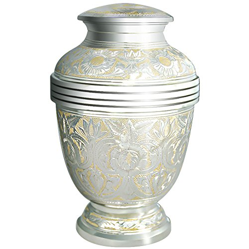 8448132f26f9c Cremation Urns by Meilinxu- Funeral Urn for Human Ashes Adult and Memorial-  Hand Made in Brass/Hand Engraved - Display Burial Urn At Home or in Niche  ...