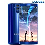 Mobile Phones Cheap, DOOGEE BL12000 Unlocked Dual SIM Free Smartphones, 7.0 Android Phone (MT6750T Octa Core, 6.0 Inch 18:9 ratio FHD+, 4GB+32GB, Quad cameras 16MP + 13.0MP, 12000mAh battery, 12V2A Quick Charge, OTG) - Blue