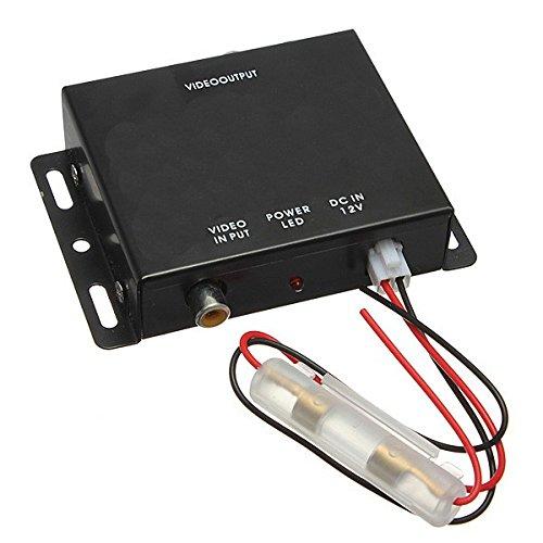 Aktiver Videoverteiler mit Video Verstärker 4Fach vierfach 4 Anschlüsse RCA Cinch für Auto PKW Wohnmobil  YMPA MZ-VV4 Video-verteiler Verstärker