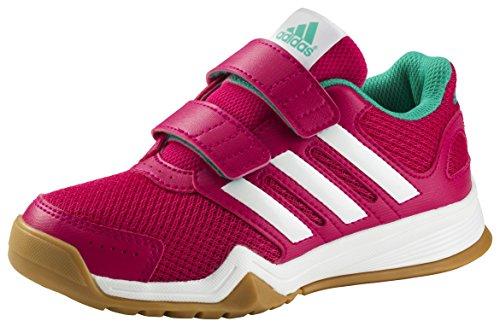 adidas Kinder Indoor Schuhe Interplay CF Pink / Weiss / Mint -5 (UK)