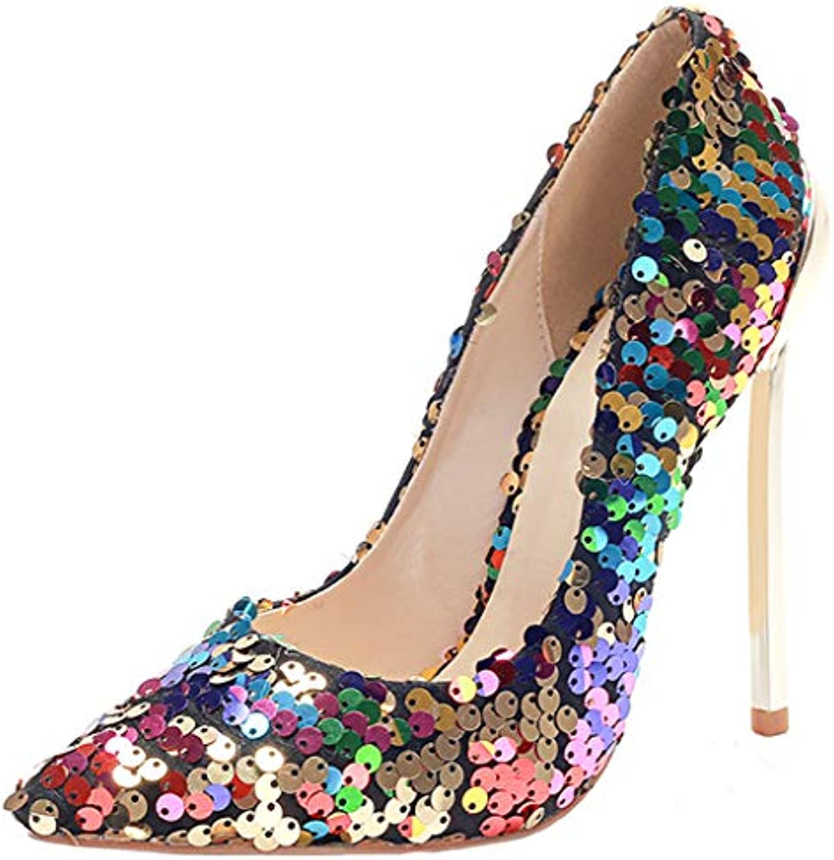 SERAPH CX242 Donna Glittery Paillettes Tacco alto Décolleté Party Prom Sera Scarpe a spillo Taglia | Trendy  | Sig/Sig Ra Scarpa