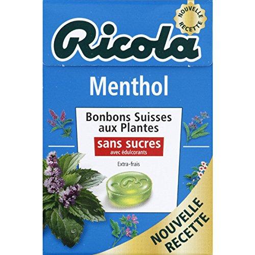 ricola Menthol, bonbons suisses aux plantes, Sans sucres et avec édulcorants - ( Prix Unitaire ) - Envoi Rapide Et Soignée
