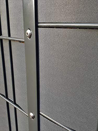 Profi Sichtschutz 50 Meter 1,1 mm PP Kunststoff anthrazit für Gittermatte Zaun Gartenzaun Stahlmattenzaun Gitterzaun