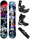 AIRTRACKS Snowboard Set - Tabla Fantasy Wide 153 - Fijaciones Master - Softboots Master QL 41 - SB Bag