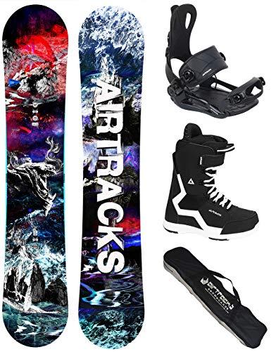 Airtracks Snowboard Set - TAVOLA Fantasy Wide 148 - ATTACCHI Master - Softboots Savage Black 42 - SB Bag