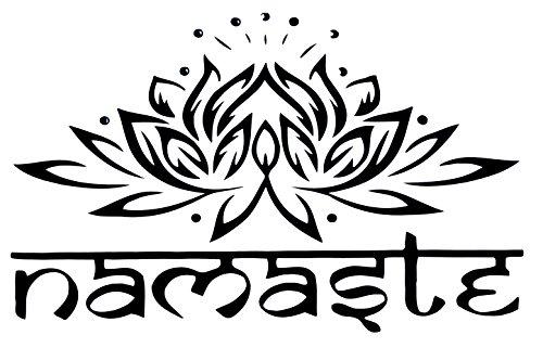Wandklebefolie Wandtattoo Sticker Aufkleber * NAMASTE * mit Lotusblume - Sanskrit - Meditation Yoga Spiritualität Esoterik Astrologie