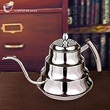 Calli Caffè in acciaio a goccia caldaia teiera caffettiera in acciaio caffettiere 1200ml