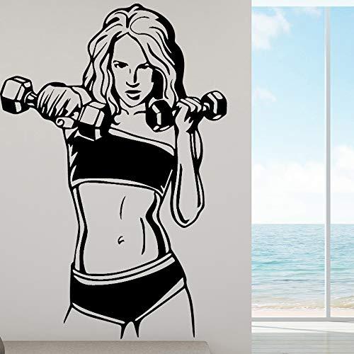 Weibliche Muskeln Wandaufkleber Fitness Gym Sport Vinyl Aufkleber Home Decor Ideen Abnehmbare Design 43 Cm X 63 Cm -