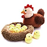 Lazy Puppy Creative Hen Chicken Stuffed Plush Toy with a Nest