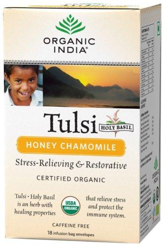 Organic India Tulsi - 18 Tea Bags (Honey Chamomile)