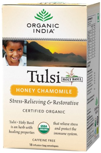 Organic India Tulsi - 18 Tea Bags (Honey Chamomile)  available at amazon for Rs.115