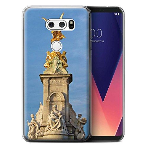 Stuff4® Gel TPU Hülle/Case für LG V35 ThinQ/Victoria-Denkmal Muster/Seiten London Kollektion