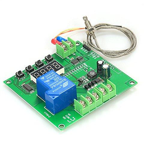 Festnight Mini-LED-Temperaturregler Modul 0~1000 ℃ Temp Control Switch Board mit K-Typ-Sensor-Sonde -