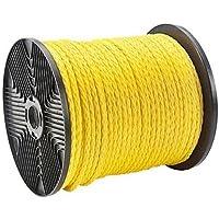 """Morris 31910Pull trenzado cuerda, polipropileno, 1/4""""de diámetro, 1125libras. Resistencia a la tensión, longitud de 300'"""