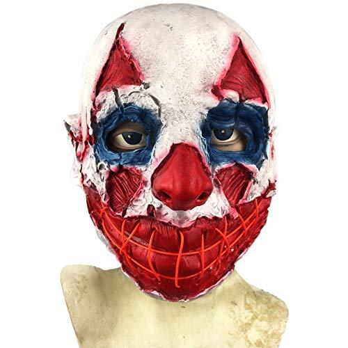 Nightghost Halloween Clown, Joker Zombie Maske, Lustiges Kostüm Spielt Helm, Schrecklicher Gruseliger Perückenfilm Und Spielarbeits-Make-Up-Requisiten. (Gruseligsten Zombie Kostüm)