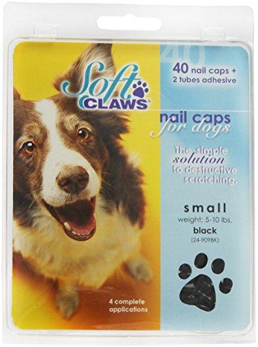 Soft Claws Hunde-Weiche Krallen Hunde und Katzen Nail Kappen Take Home Kit, klein, schwarz -