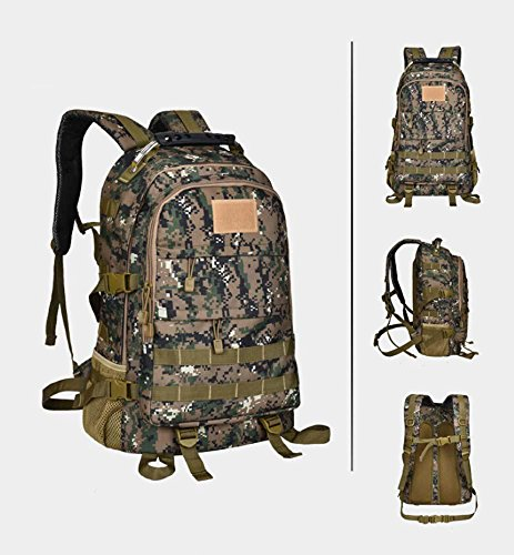 ShangYi Borsa all'aperto alpinismo Camo tactical bag + tracolla viaggio 28L , Black White Digital camouflage