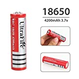 Schrodinger15 70025 ULTRAFIRE 2pcs/Order 18650 Rechargeable Battery 3.7V Lithium Ion 6800 mah