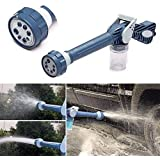 Dhruheer Ez Jet Water Spray Gun Water Cannon 8 In 1 Turbo Water Spray Gun For Car Washing And Gardening Purpose High Pressure Water Outlet 8 Type Of High Pressure Water Outlet With Inbuilt Soap Dispenser Tank