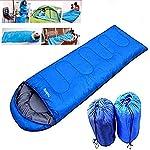Pusheng Sleeping Bag - Envelope Lightweight Portable, Waterproof, Comfort With Compression Sack, Great For Traveling…