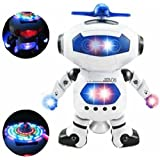 Tickles Naughty Dancing Robot LED Light and Music Toy (White)