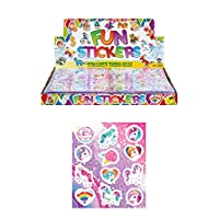 12 X Unicorn Sticker Sheets Kids Girls Party Bags Fillers Pinata Decoration Art & Craft Toys
