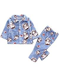 280c748628 K-youth Pijama para Niña Invierno Ropa Bebé Niño Niña Manga Larga Infantil  De Dibujos Animados Estampado Animal…