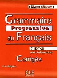 Grammaire progressive du français, niveau debutant. Corrigés