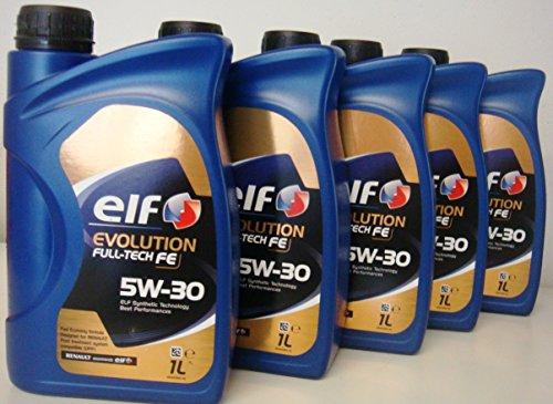 elf-evolution-full-tech-fe-set-di-5-x-1-litri-olio-motore-sintetico-per-renault-veicoli