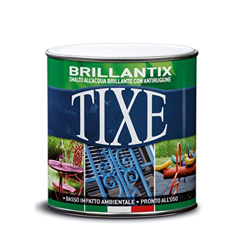 TIXE 610501 Brillantix Smalto Gel Antiruggine all'Acqua, Vernice, Bianco Lucido, 500 ml