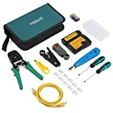 Yissvic 12 in 1 Netzwerk Werkzeug Set Testgerät Kabeltester LAN Reparaturwerkzeuge Netzwerk-Tool-Kit für RJ45 RJ11 Cat5 Cat6 Kabel (Verpackung MEHRWEG)
