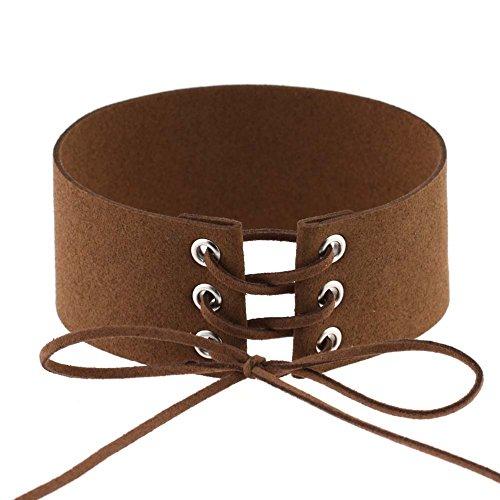 Vazan Schnapp Bracelet & Bangles 14 Farbe DIY justierbare PU-Armband-Armband-Stulpe fit 18mm DIY Rivca Snaps Knopf Schmuck [30cm Kaffee]