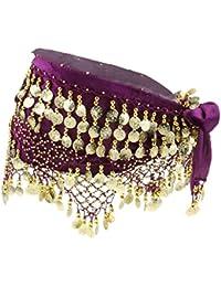 Baoblaze Bufanda de Cadera de Danza de Vientre con 268 Monedas Falda de Cinturón para Bailarina