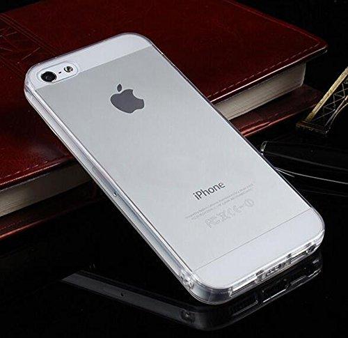 Iphone 5 5S SE Hülle Nnopbeclik® Ultra Slim Glitzer Schutzhülle Silikon Transparent Durchsichtig TPU Bling Back Cover Case, Schutzhülle Muster Protective Glänzend Kristall Diamant Clear Case Stoßdämpf Transparent+Weiß