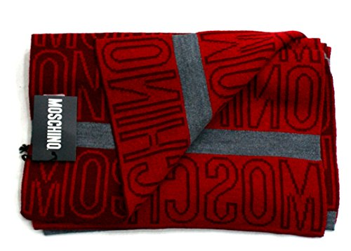 moschino-scarf-unisex-logoed-made-in-italy-cm-170x30-red