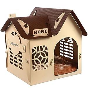 Pet Plastic Cabin, Petit Chien Cat House Avec Mat, Résistant Aux Rayures, Résistant Aux Morsures, Imperméable à L'eau Facile à Nettoyer Pour L'hiver D'été