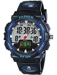 Reloj de los deportes al aire libre / reloj masculino / reloj impermeable / forma electrónica de la manera , deep blue