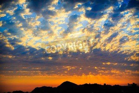 Leinwandbild at sunset