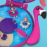 Polly Pocket FRY38 Pocket World Flamingo Floatie Compact Play Set, Multi-Colour