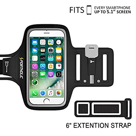 PORTHOLIC Universal Sweat Resistant Sports Armband For iPhone 7,iPhone 6,iPhone