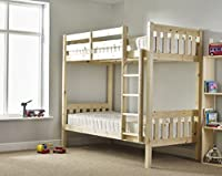 Adult Bunkbed 3ft single shaker solid pine bunk bed - Can be used by adults - VERY STRONG