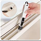 #3: Window Channel ,Window Frame dust cleaning brush, Keyboard , Corners & Edges , Cleaning brush with mini dustpan Black - MosQuick